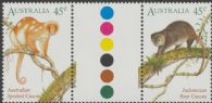 SG 1586a AustraliaIndonesia Joint Issue pair colour control circle gutter pair (AF1/362)
